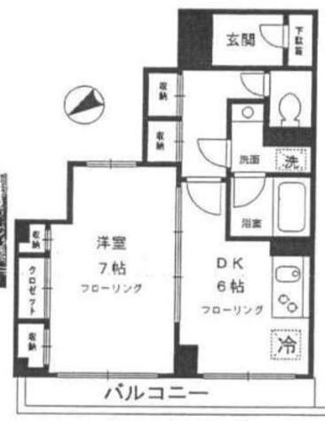 クレール目黒 / 4階 部屋画像1