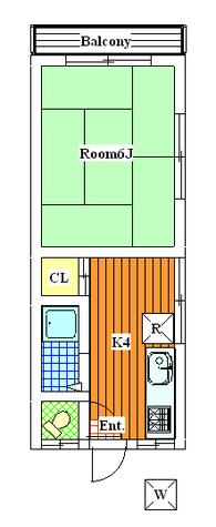 第三メゾンタカオ / 2階 部屋画像1