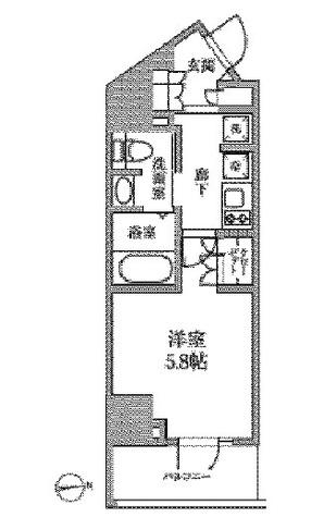 レジディア中延Ⅱ / 4階 部屋画像1