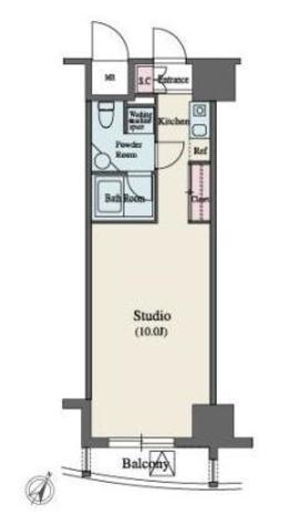 MFPR代々木タワー / 8階 部屋画像1