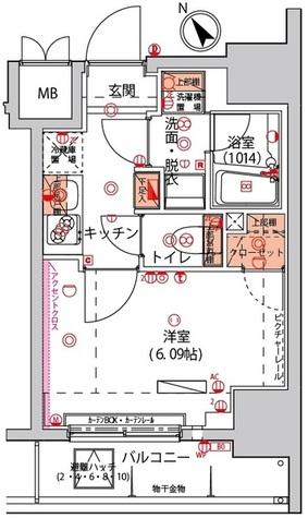 ハーモニーレジデンス川崎 / 3階 部屋画像1