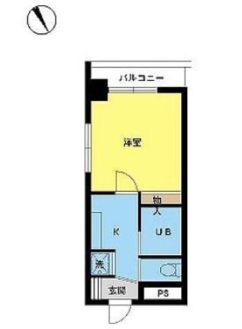スカイコート三田慶大前 / 9階 部屋画像1