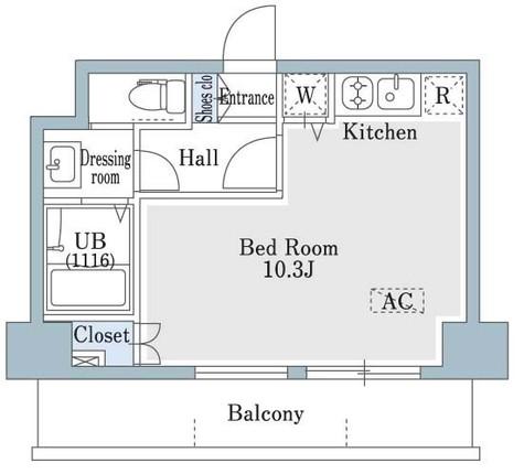 SHOWN HATSUDAI / 8階 部屋画像1