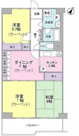 目黒台スカイマンション / 9階 部屋画像1