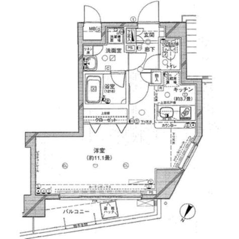 メインステージ目黒Ⅱ / 1401 部屋画像1