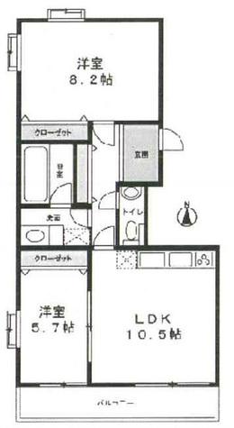 都立大学 5分マンション / 2階 部屋画像1