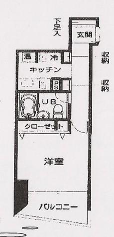 HF三田レジデンス(旧シングルレジデンス三田) / 12階 部屋画像1