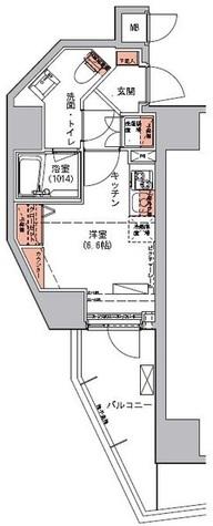 ハーモニーレジデンス三田 / 8階 部屋画像1