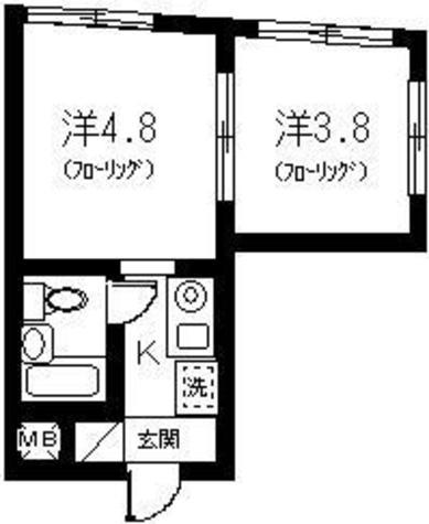 クロワッサンハウスⅡ / 303 部屋画像1