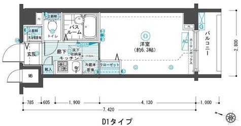 フェニックス目黒弐番館 / 104 部屋画像1