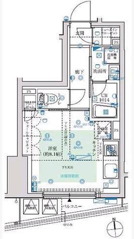 フェルクルール秋葉原 / 2階 部屋画像1
