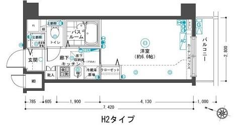 フェニックス目黒弐番館 / 2階 部屋画像1
