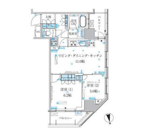 パークアクシス上野松が谷 / 11階 部屋画像1