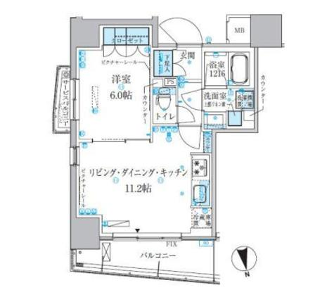 パークアクシス上野松が谷 / 8階 部屋画像1