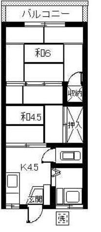 浅香荘 / 201 部屋画像1