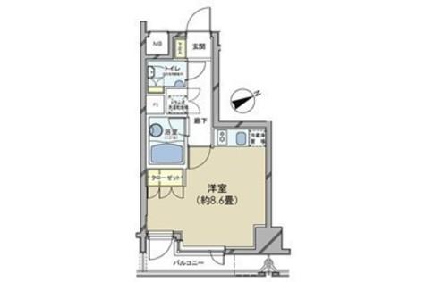 カスタリア日本橋 / 1102 部屋画像1
