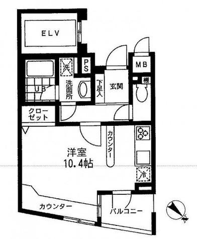 プライムアーバン中目黒Ⅱ(旧Jフラッツ中目黒) / 5階 部屋画像1