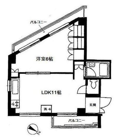 リバティハウス柿の木坂 / 5階 部屋画像1