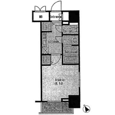 レジディア広尾Ⅱ / 8階 部屋画像1