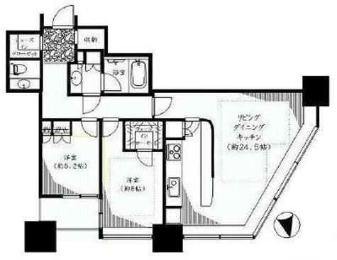 青山パーク・タワー / 3階 部屋画像1