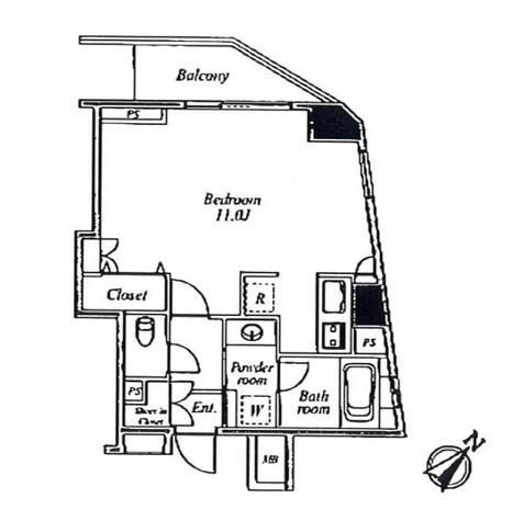 セントラルクリブ六本木Ⅰ / 705 部屋画像1