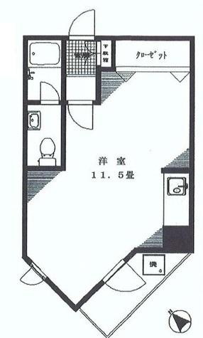 中銀高輪マンシオン / 706 部屋画像1