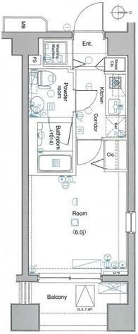 エルエー・ラルス海岸【LA.ラルス海岸】 / 8階 部屋画像1