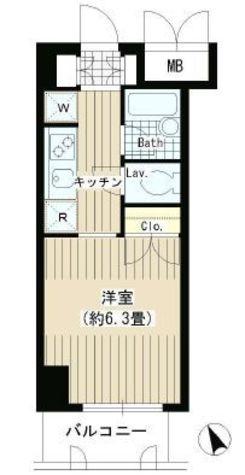 タキミハウス渋谷 / 2階 部屋画像1
