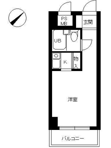 スカイコート日ノ出町(スカイコート横浜日ノ出町) / 9階 部屋画像1