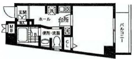 グロワール西大井 / 401 部屋画像1
