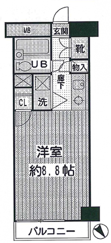 中目黒コート / 3階 部屋画像1