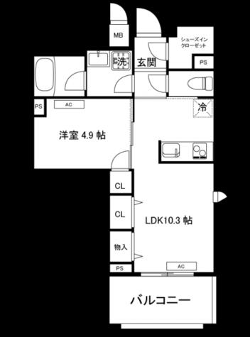 ガーデンヒルズ柿ノ木坂 / 601 部屋画像1