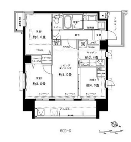 プロスペクト川崎 / 4階 部屋画像1