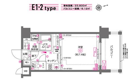 ZOOM川崎(ズーム川崎) / 6階 部屋画像1