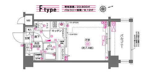 ZOOM川崎(ズーム川崎) / 9階 部屋画像1