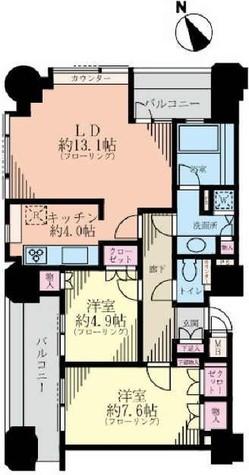 ルネ新宿御苑タワー / 21階 部屋画像1