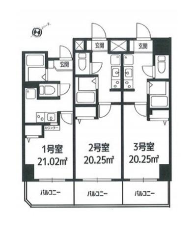 パウロニアバレーテイク2ポートサイド / 9階 部屋画像1