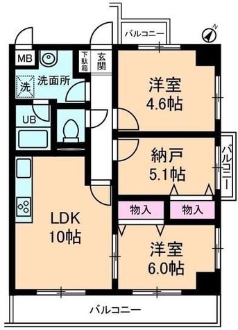 ユーフォリア三枝 / 403 部屋画像1