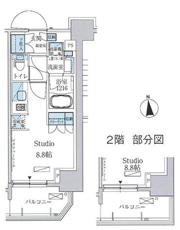 パークアクシス上野三丁目 / 2階 部屋画像1