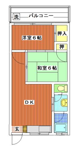 田園マンション / 2階 部屋画像1