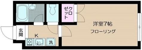 シャルレ早稲田 / 1階 部屋画像1