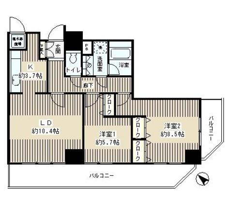 トレステージ目黒 / 13階 部屋画像1