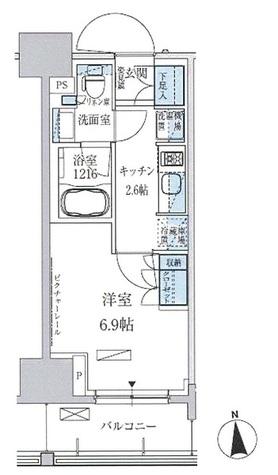 パークアクシス上野三丁目 / 6階 部屋画像1