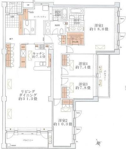 上原ガーデンズ / 302 部屋画像1