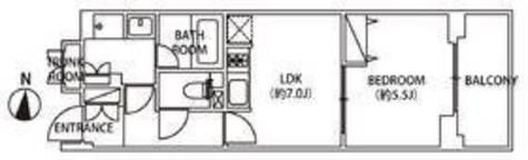 レジディア千鳥町(旧パシフィックレジデンス千鳥町) / 4階 部屋画像1