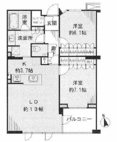 ウェリス目黒大岡山 / 2階 部屋画像1