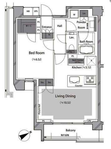 RISING SUN 恵比寿二丁目 BRANZ / 3階 部屋画像1