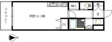 シュロス鷹番 / 3階 部屋画像1