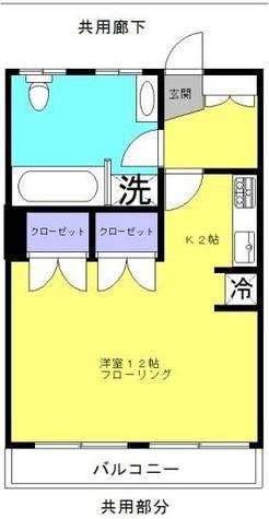 信濃町マンション / 1階 部屋画像1