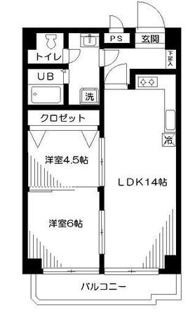 ヒルズ高輪B棟 / 401 部屋画像1